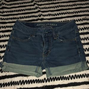 american eagle jeans made into shorts